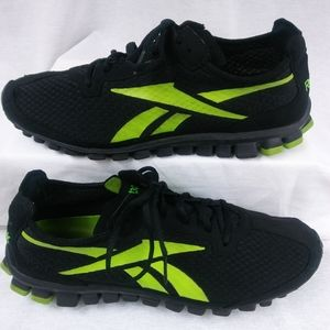 Reebok RealFlex Shoes | Black & Green - Men's 11